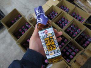 「純柿酢」夜な夜な出荷作業