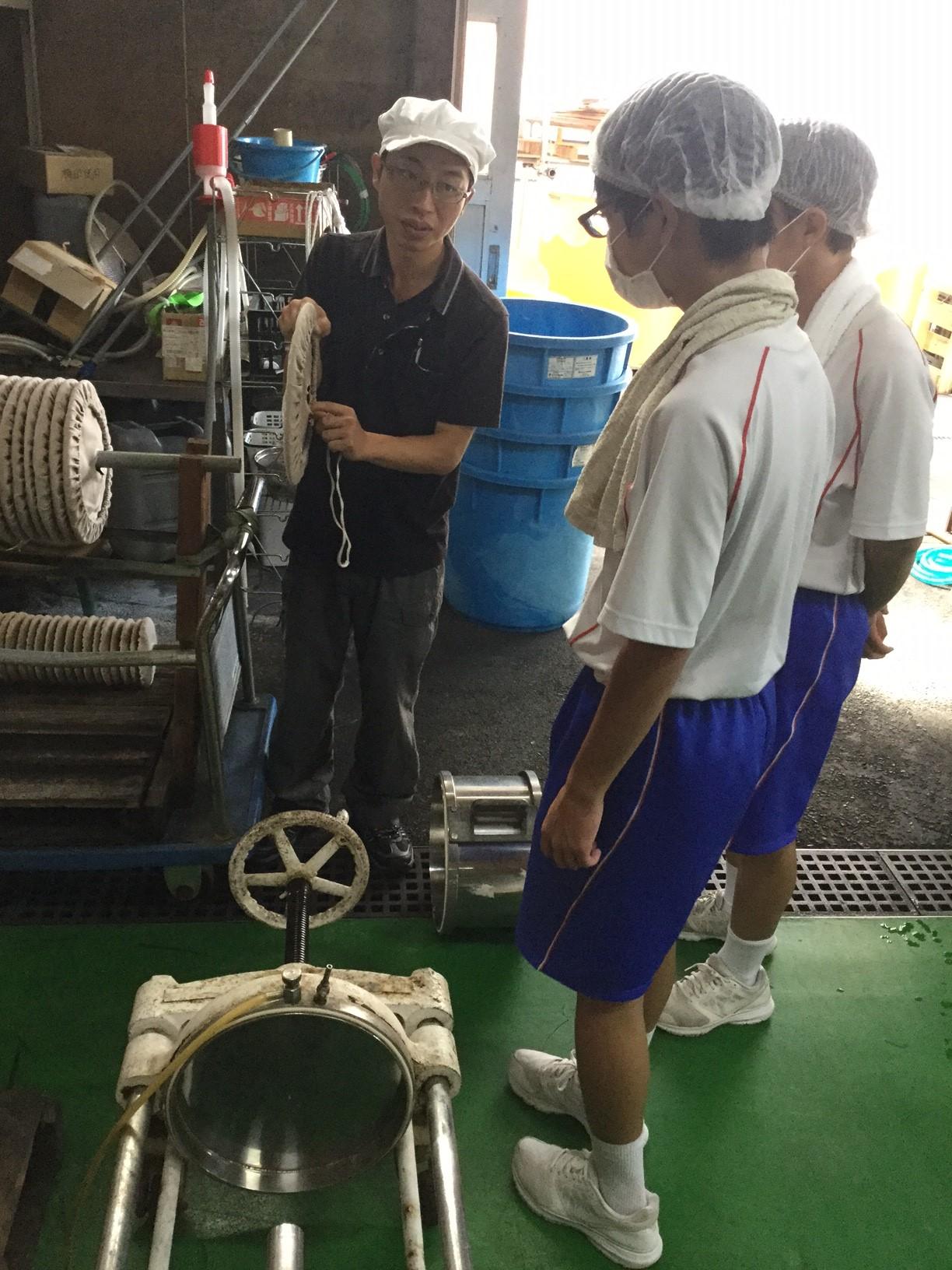 昭栄中学校生徒2人が職場体験