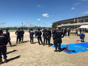 「佐賀市消防夏季訓練」