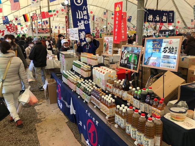 佐賀農業まつり2019テント内会場飲む酢も人気で追加搬入です!