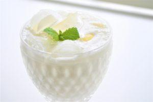 飲む果実酢牛乳と混ぜて