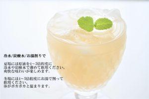 飲む果実酢 冷水炭酸水で割って飲用ください。