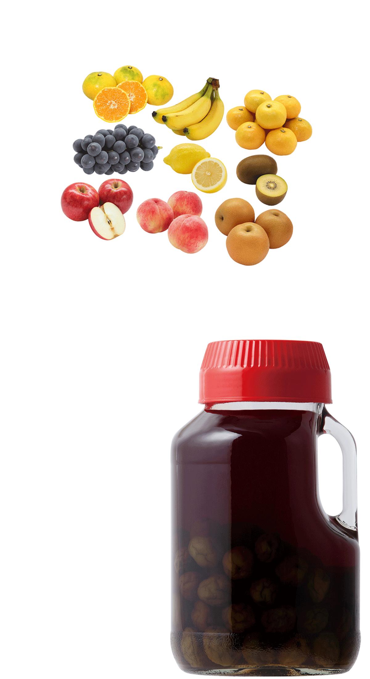 りんご酢果物漬け
