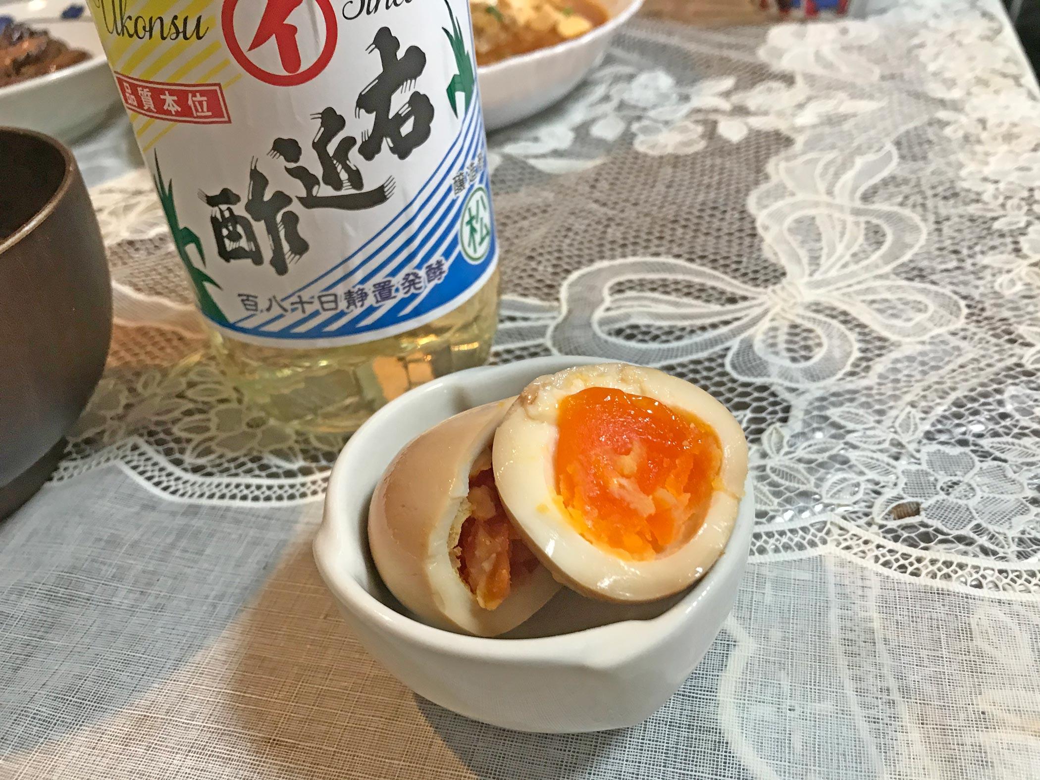 煮卵カット